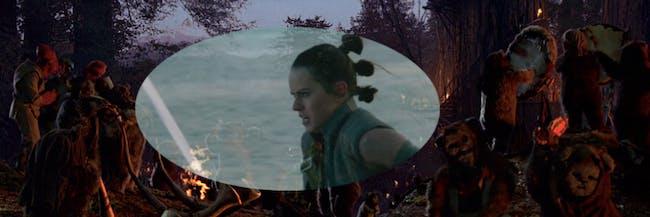 Rey parties old-school in 'The Last Jedi'