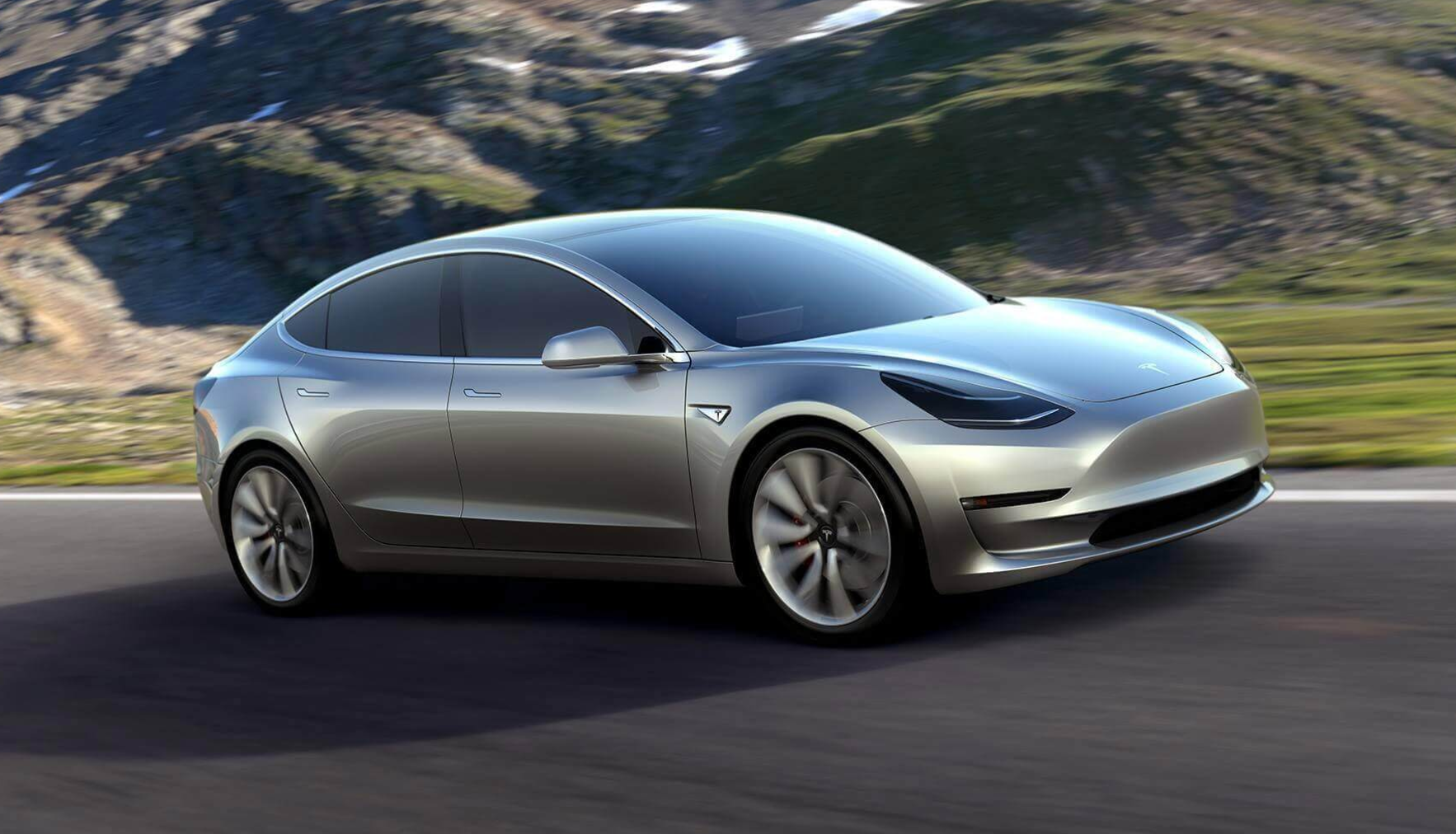 A prototype mockup of the Model 3