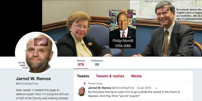 Jarrod Ramos' Twitter
