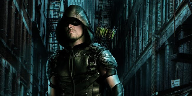 Oliver, aka Green Arrow, in a poster for 'Arrow' Season 5.