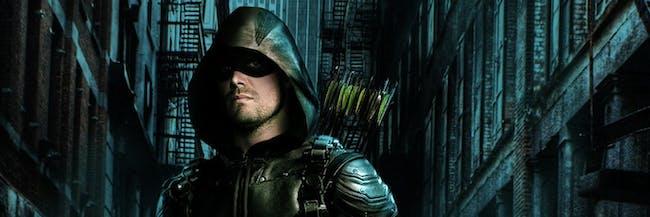 Oliver, aka Green Arrow, in a poster for 'Arrow' Season 5.