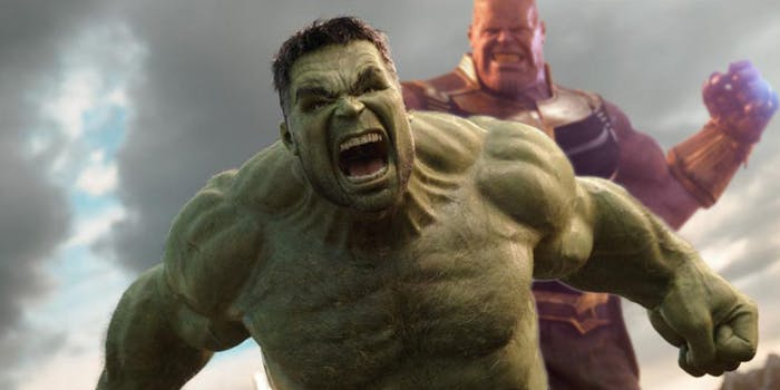The hulk Thanos