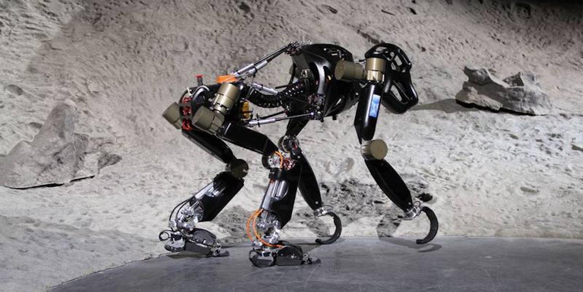 robotic chimp moon