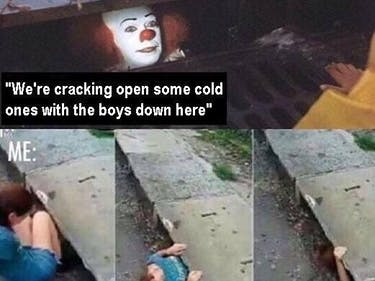 The 25 Best 'It' Sewer Clown Memes