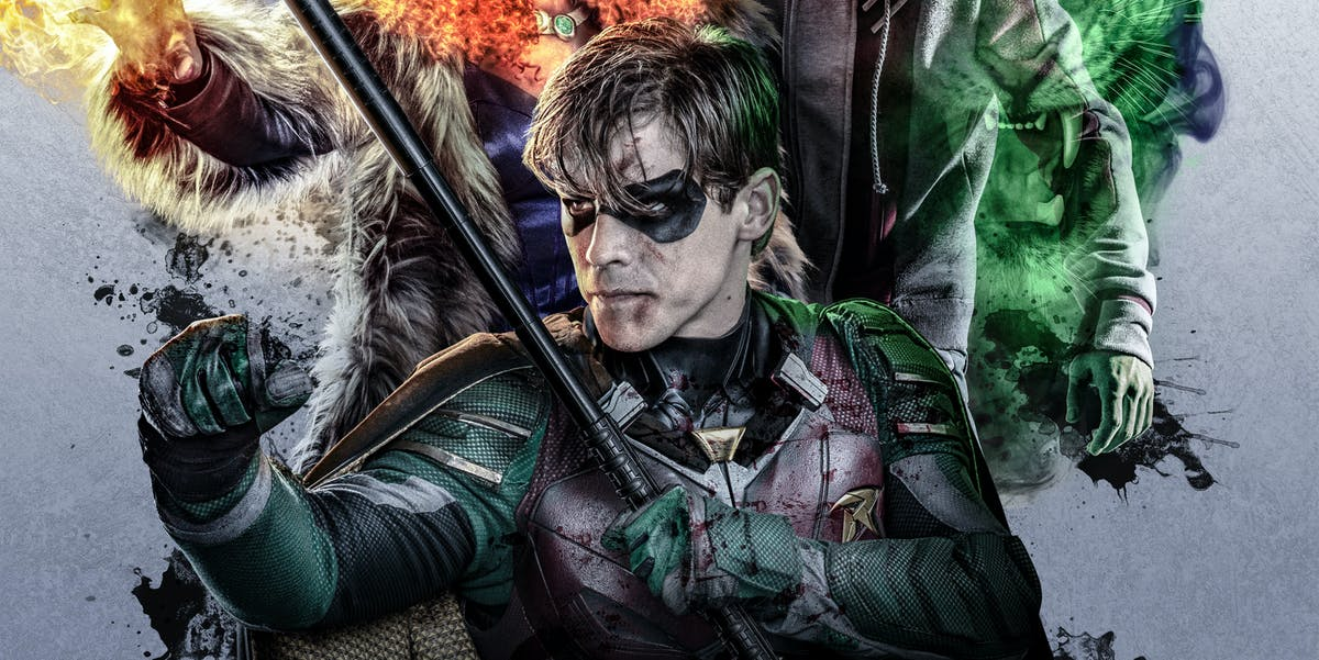 Dc S Titans Poster Brings Color Coordination To The Teen