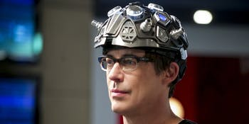 harrison wells and his dark matter helmet