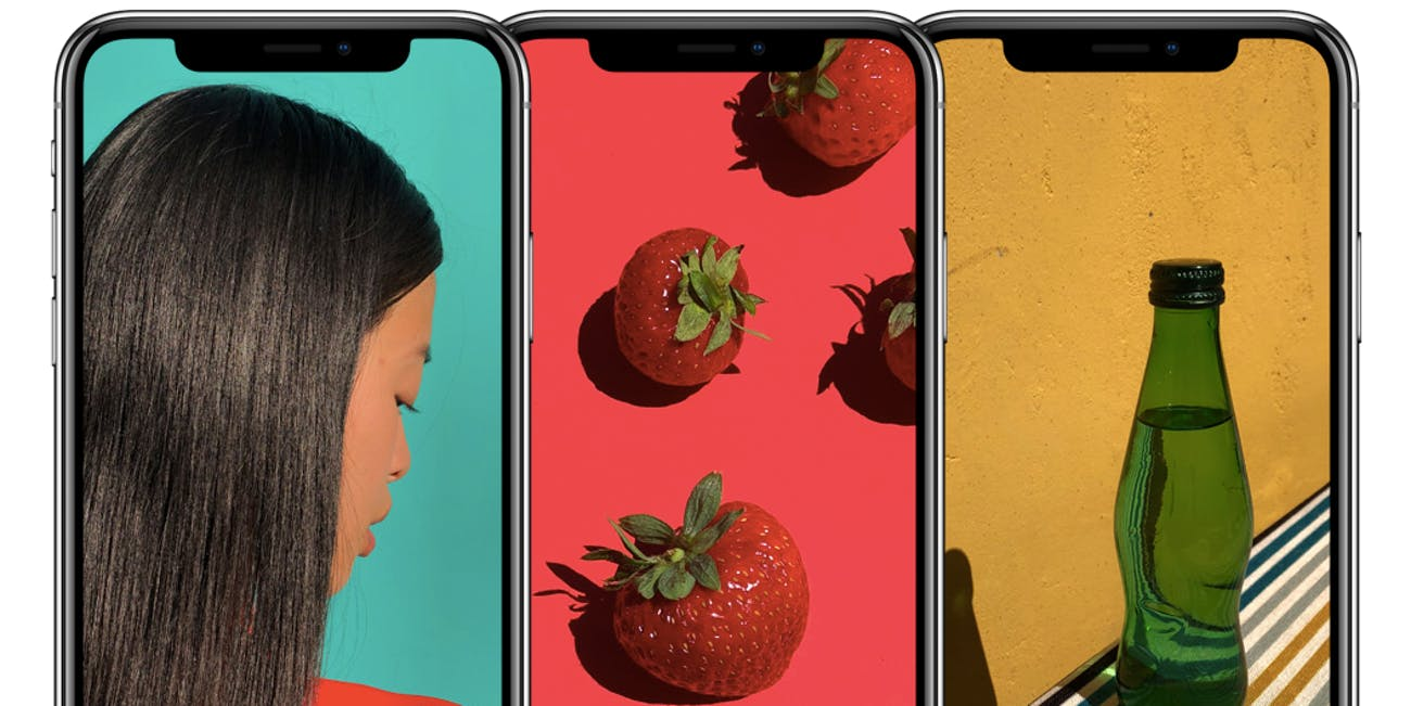 iphone x screen colors
