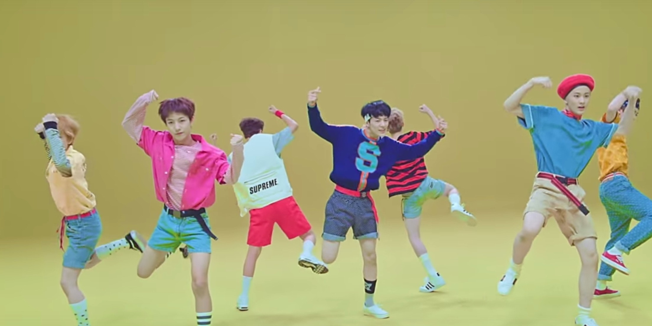 "NCT Dream in the music video for ""Chewing Gum"""