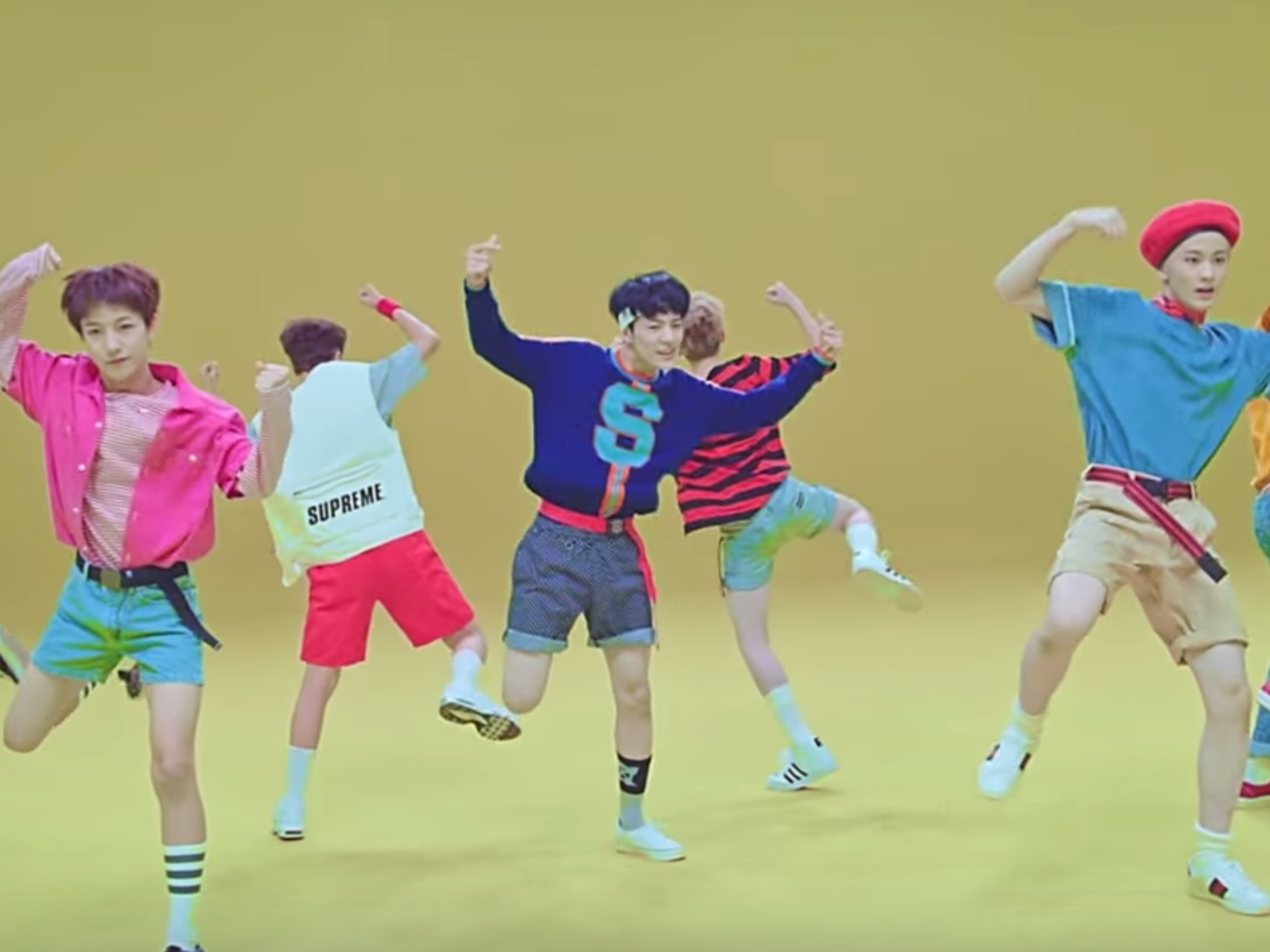 """NCT Dream in the music video for """"Chewing Gum"""""""