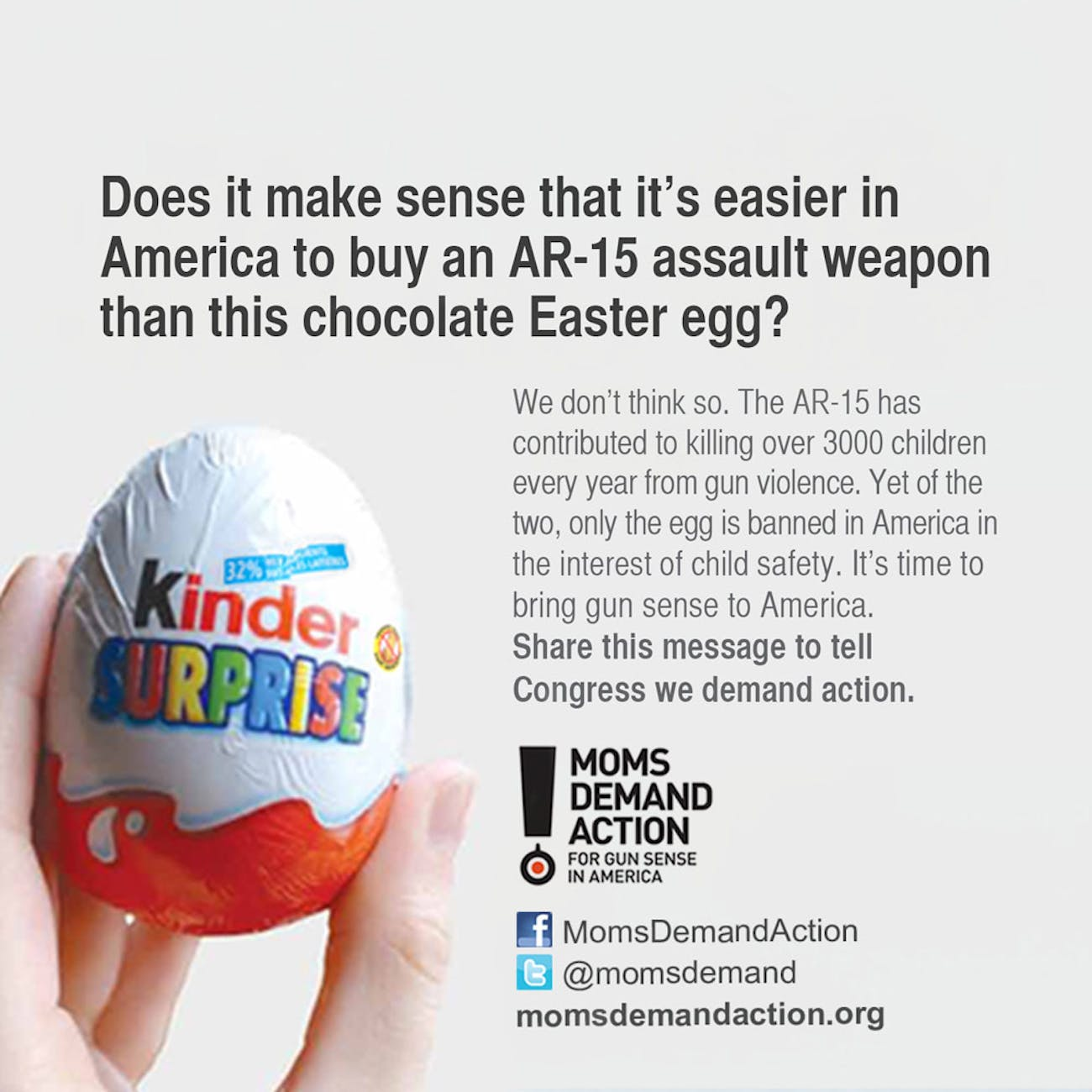 Moms Demand Action Kinder Egg Ban