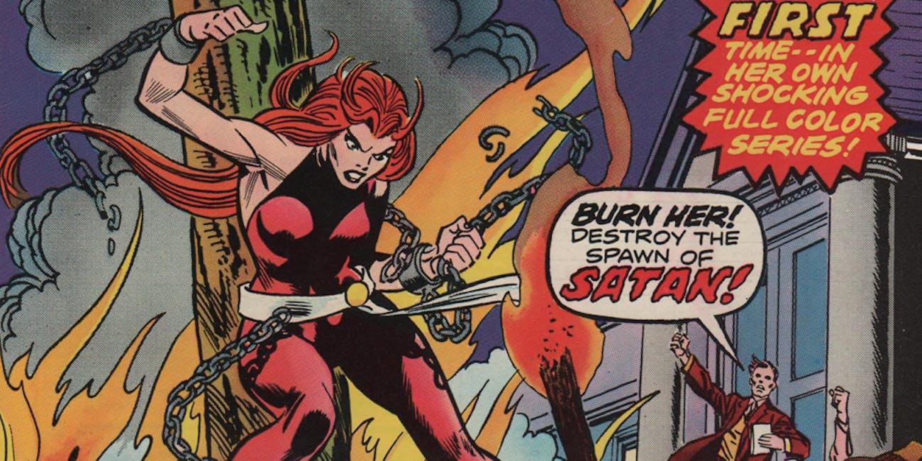 Satana Hellstrom, as seen in the Marvel comics