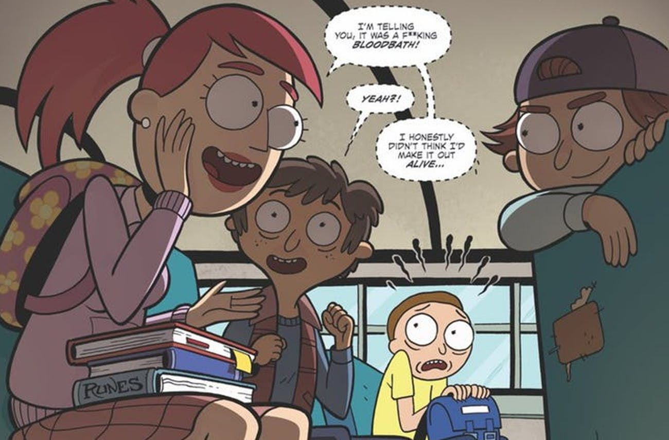 Rick and Morty'-'D&D' Comic Proves Tabletop Gaming Went