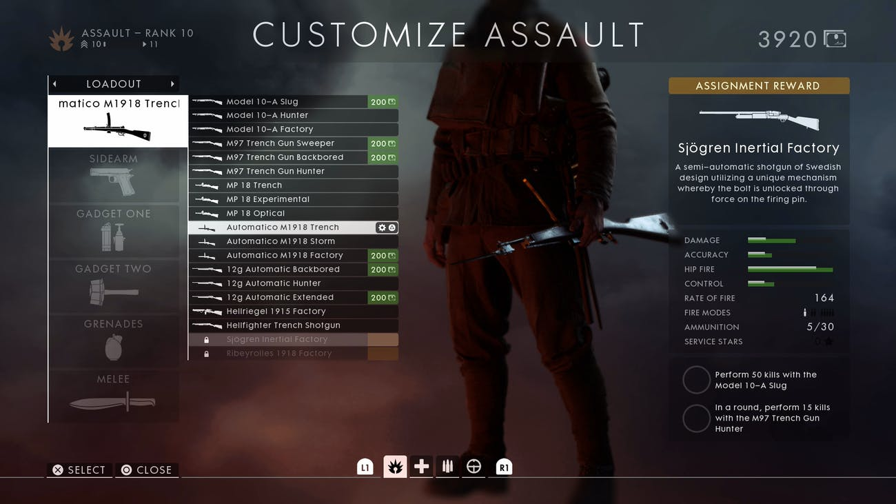 bf1 weapon assignments