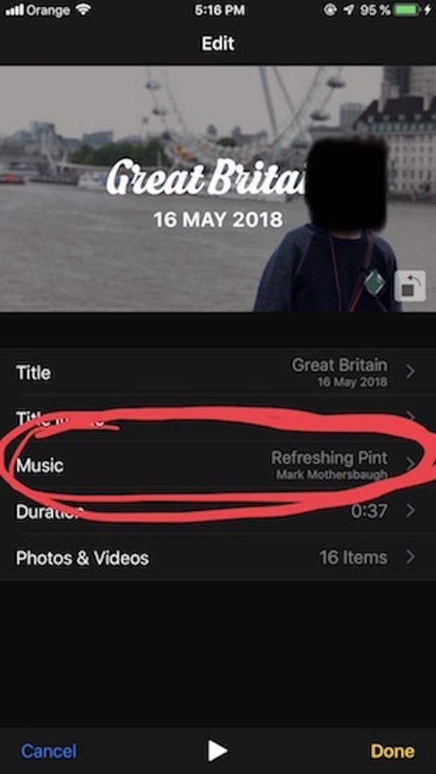 ios 12 beta memories music