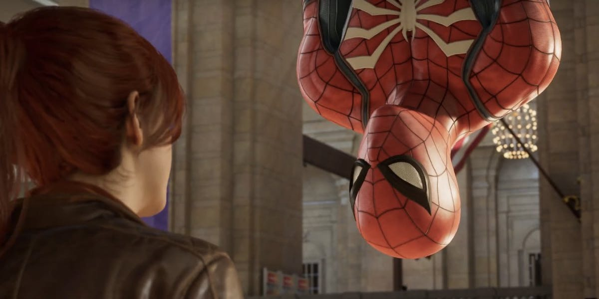 spider man ps4 easter egg references the dumbest scene in spidey