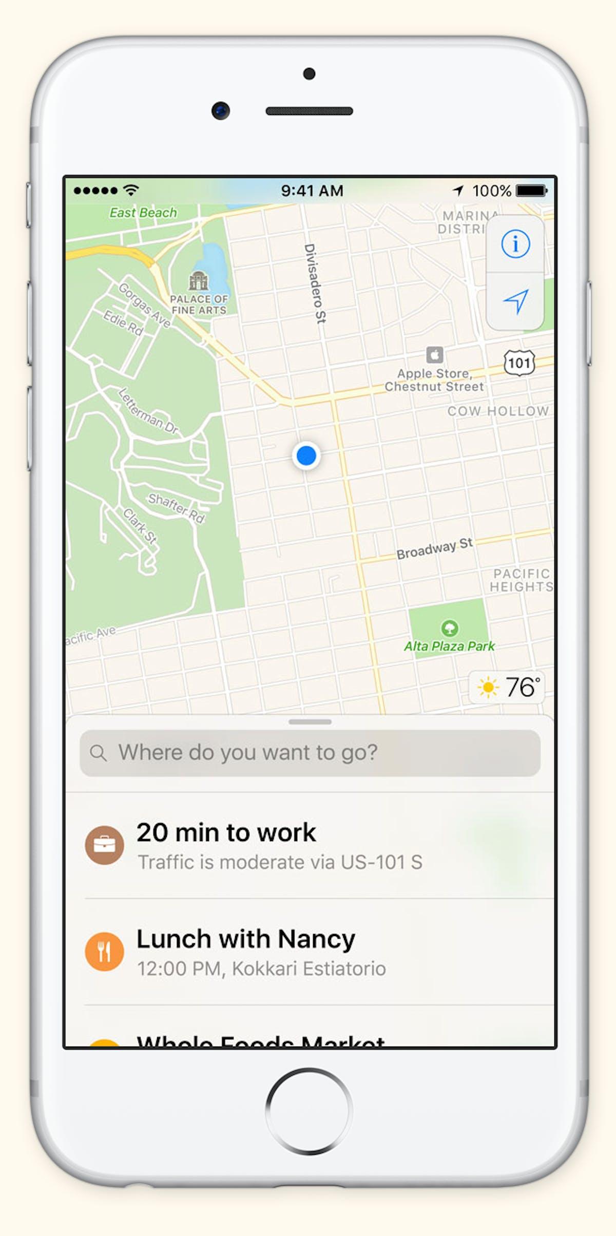 the new start screen in apple mapspngautoformatcompressw1200