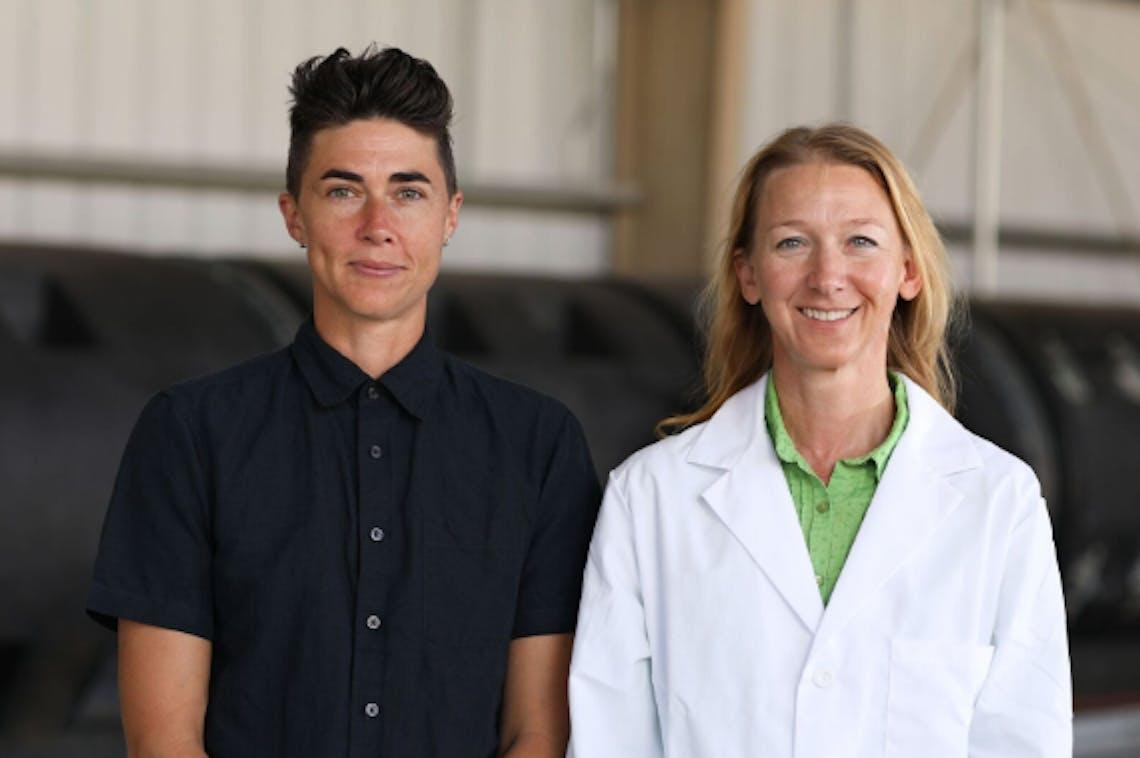 Katrina Spade and Dr. Lynne Carpenter-Boggs