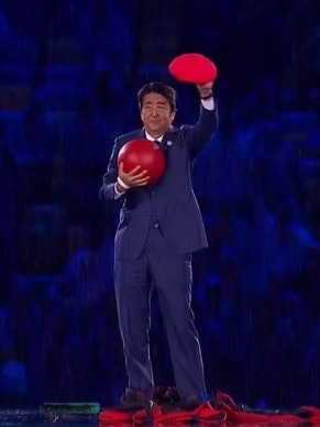 Shinzo Abe as Super Mario