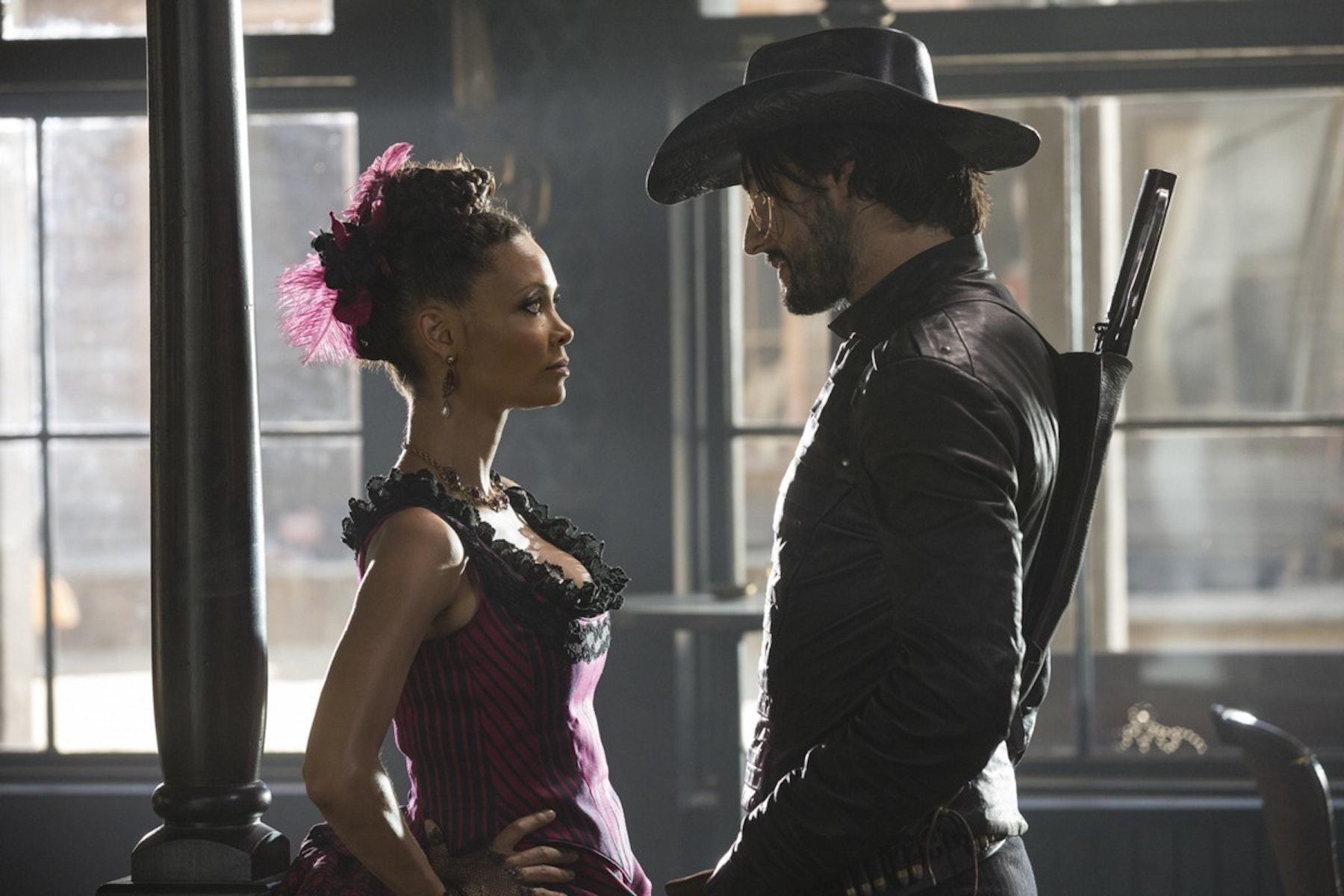 Thandie Newton as Maeve and Rodrigo Santoroas Hector Escaton.