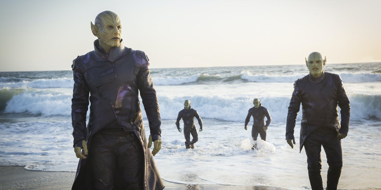 Skrulls Avengers Captain Marvel