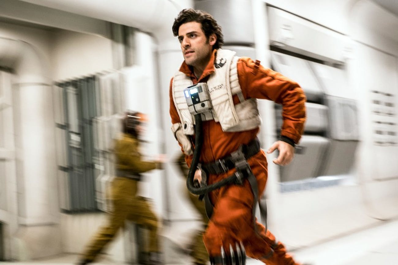 Poe Dameron in 'Star Wars: The Last Jedi'.