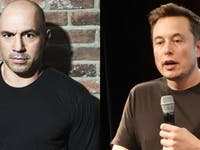 Joe Rogan and Elon Musk: Dudes who love black t-shirts.