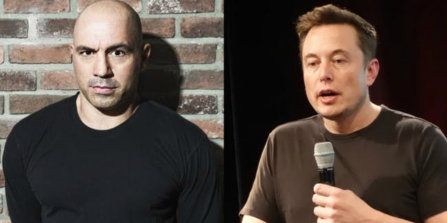 Joe Rogan and Elon Musk: Dudes who love black t-shirts.
