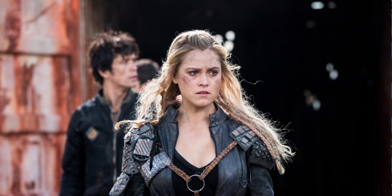 Clarke and Bellamy in 'The 100' Season 4