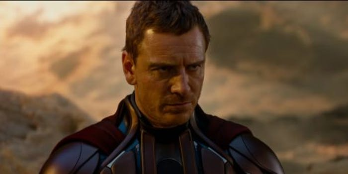 Michael Fassbender as Erik Lehnsherr, aka Magneto in 'X-Men: Apocalypse'.