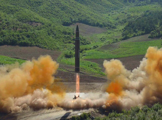 The Hwasong-14 test launch on July 3.