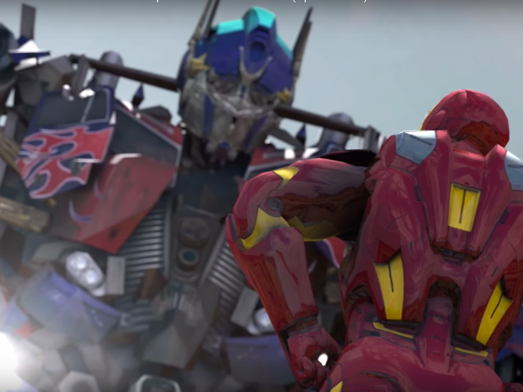 Iron Man and Optimus Prime Brawl Like Animals in Fan-Made 'Super Power Beat Down'