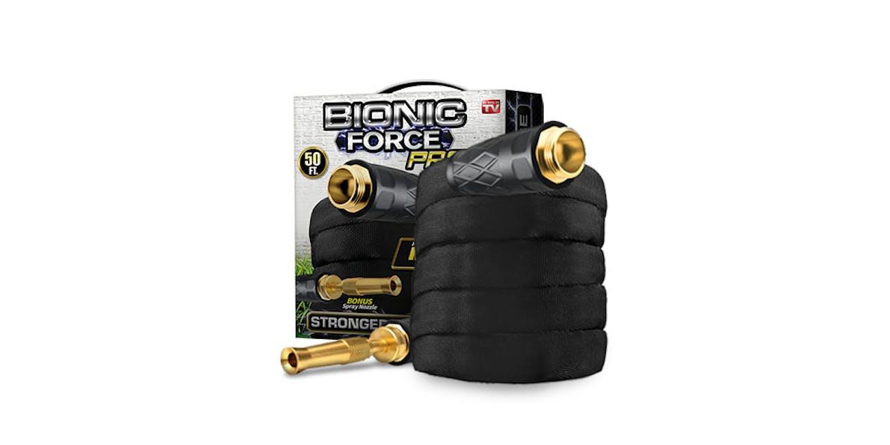 Bionic Force PRO 50' Garden Hose & Spraying Nozzle