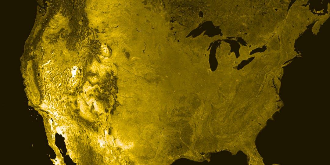 United States satellite map North America climate change denialism