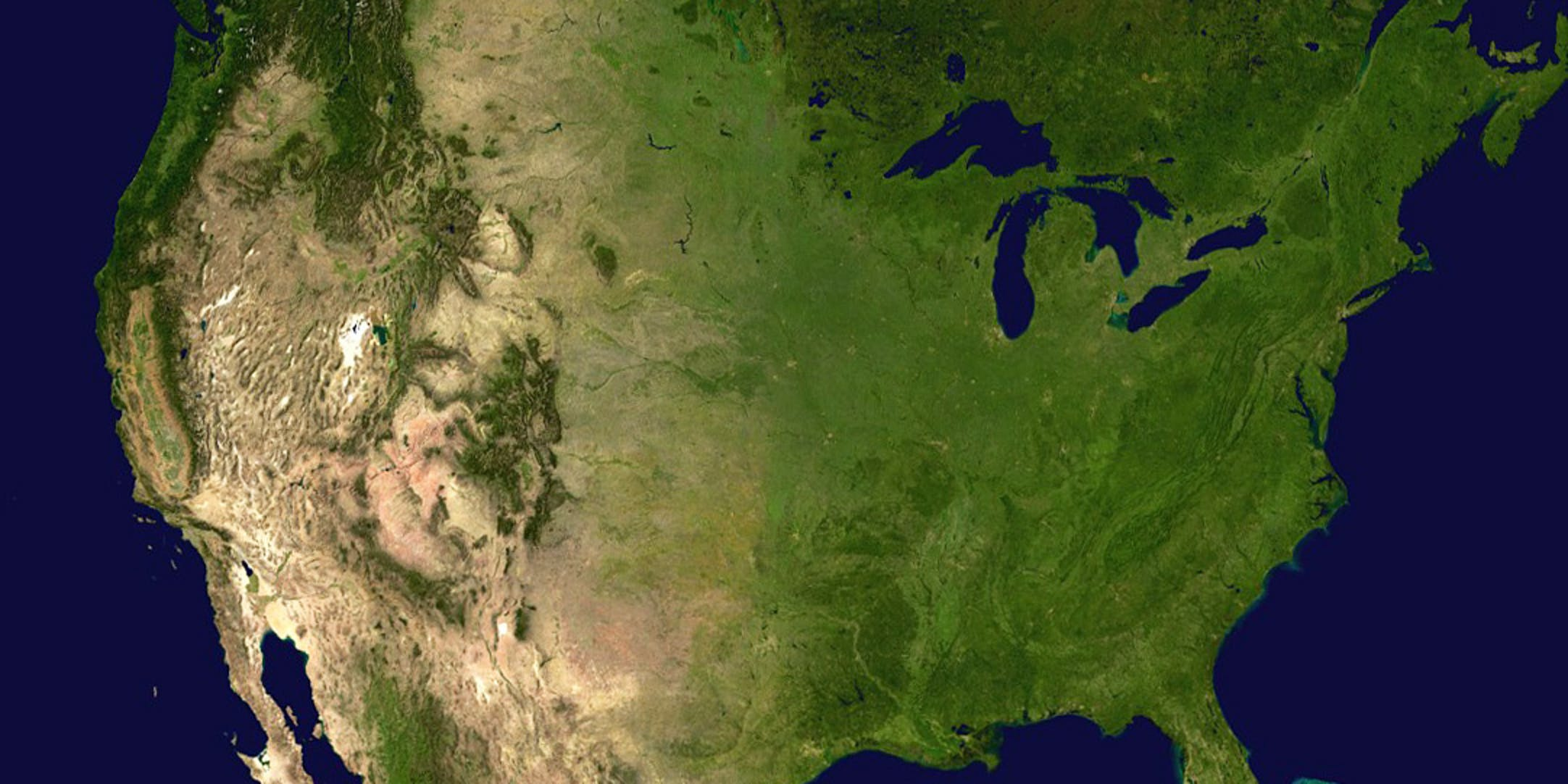 United States satellite map North America climate change denialism