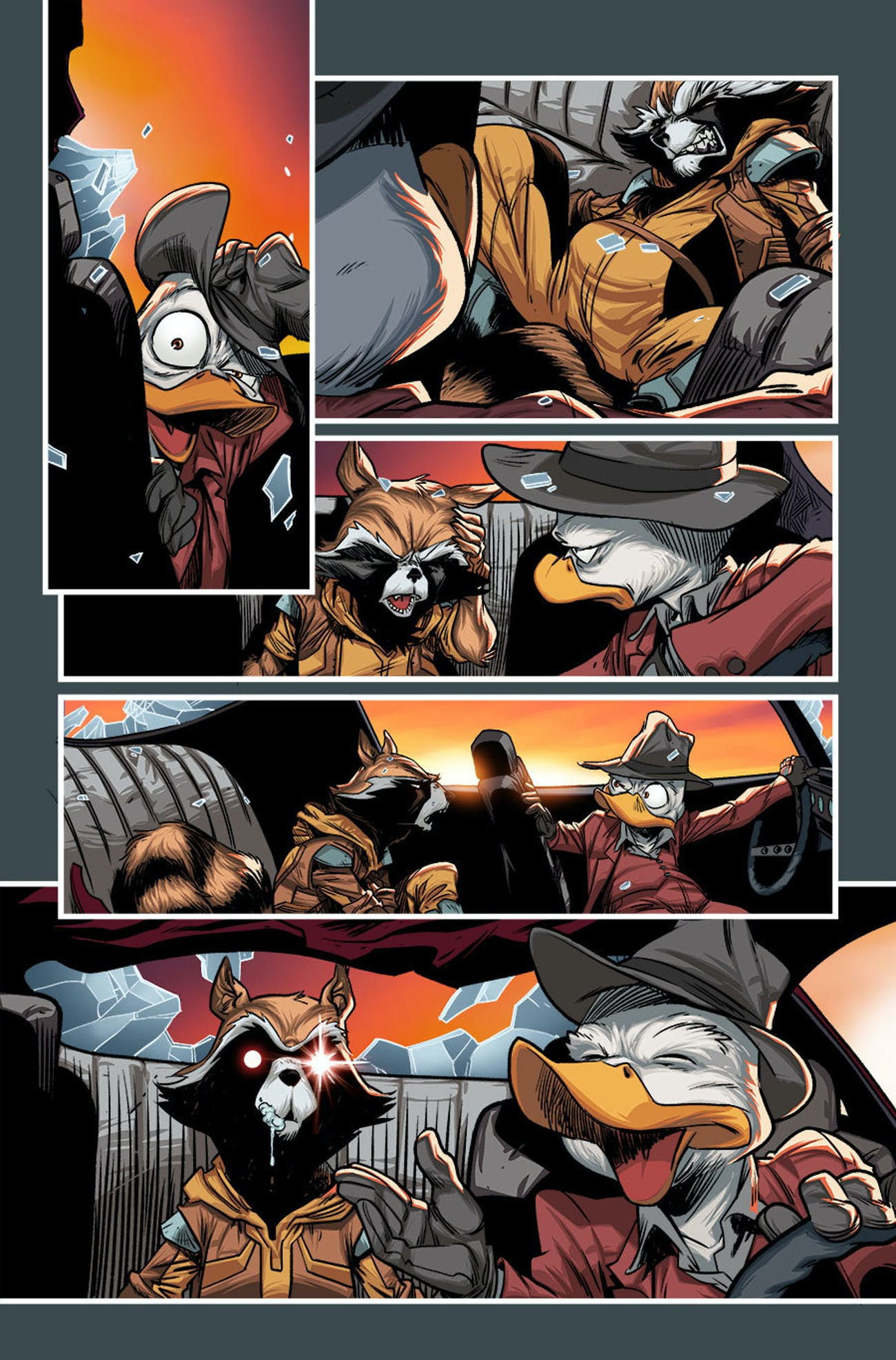Howard the Duck and Rocket Racoon in Deadpool the Duck #1