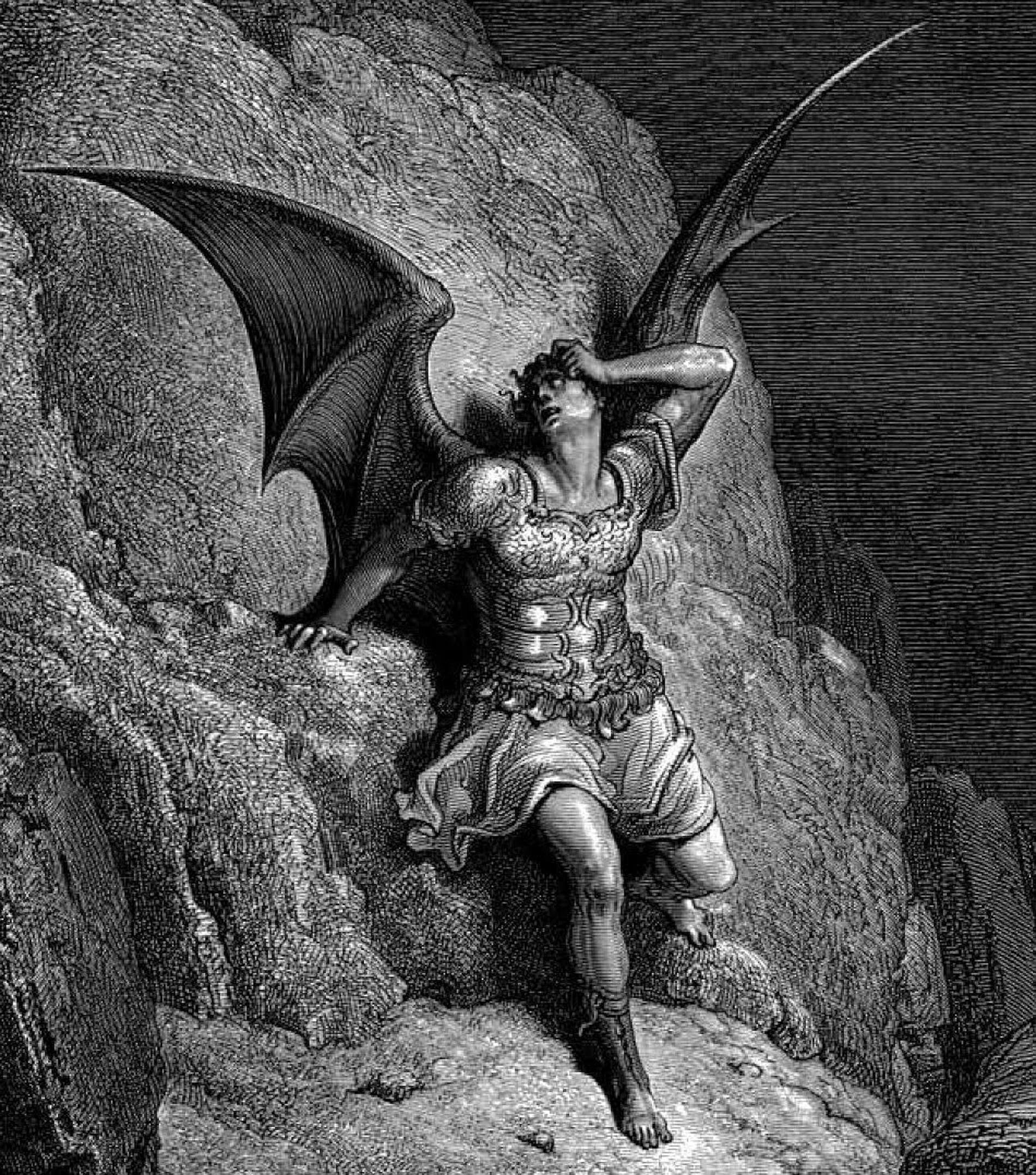 Gustav Dore's depiction of Satan for Milton's 'Paradise Lost'