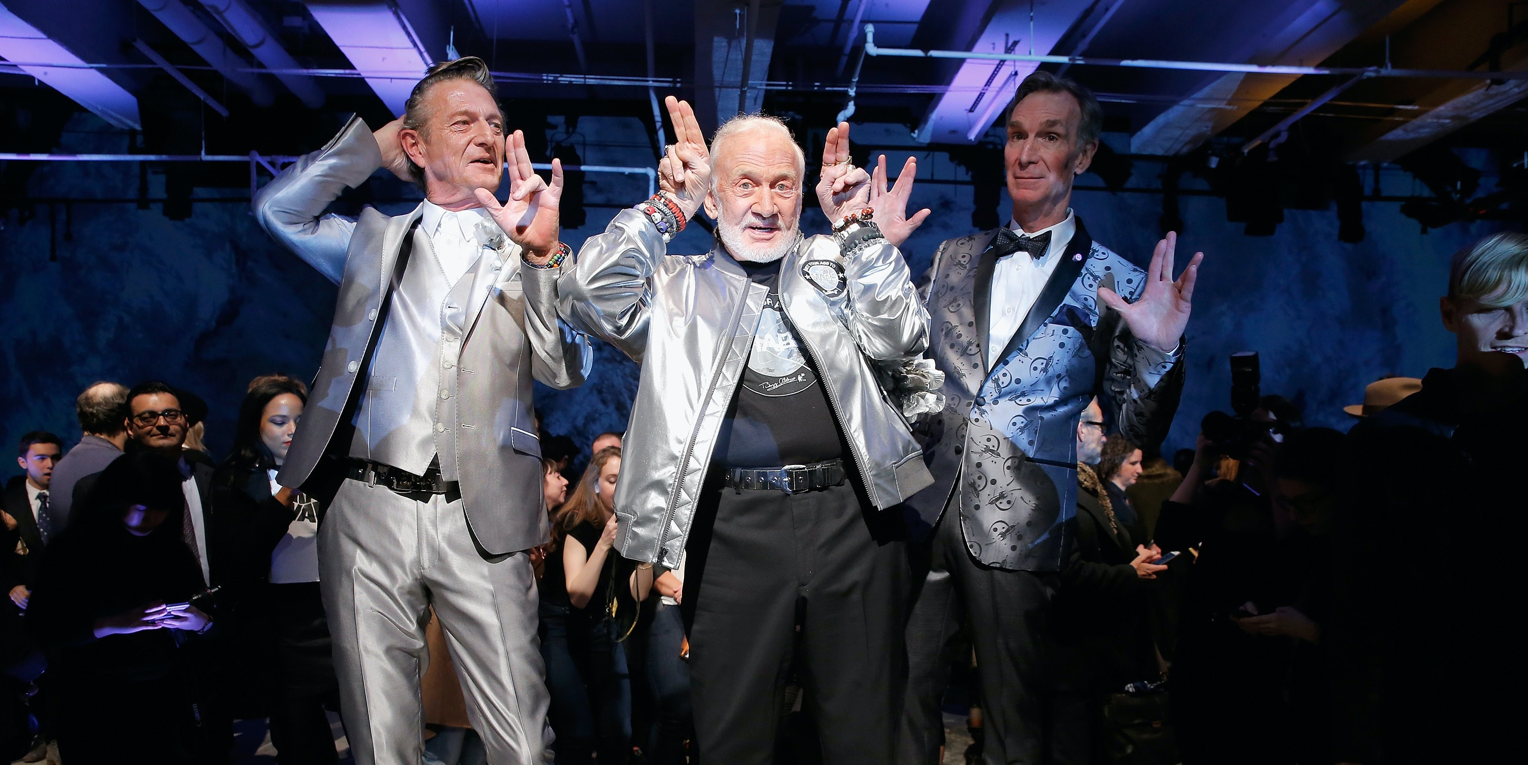 Space goes high fashion at New York Men's Fashion Week.