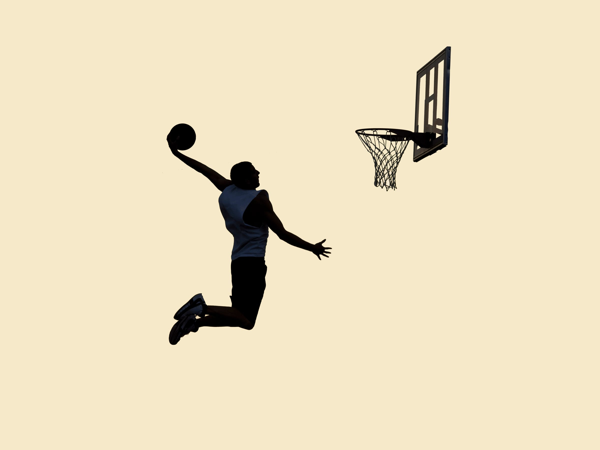 Dunking silhouette