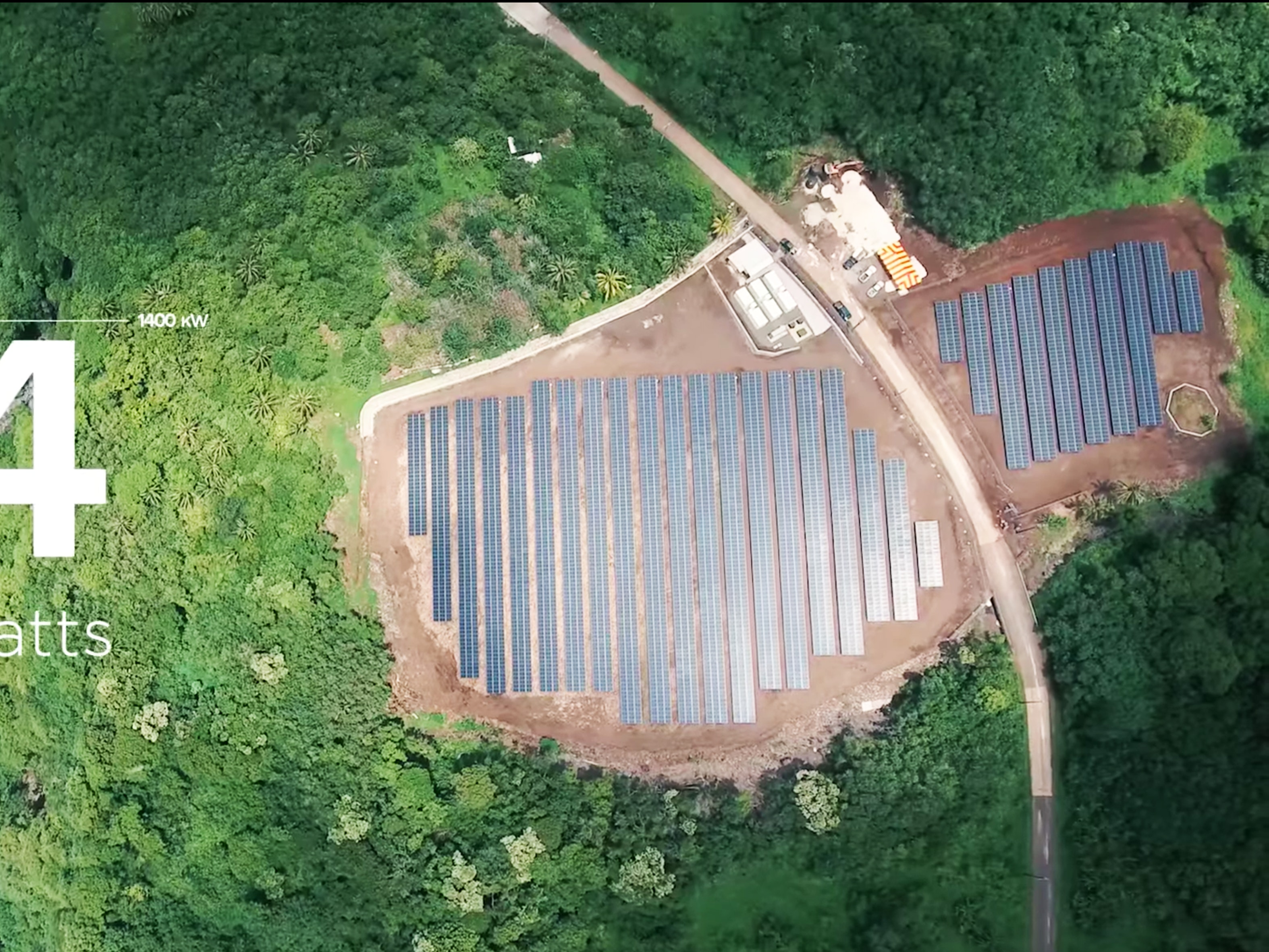 The microgrid: All 5,000-plus solar panels, along with the 60 Powerpacks.