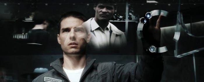 "Tom Cruise in ""Minority Report."""