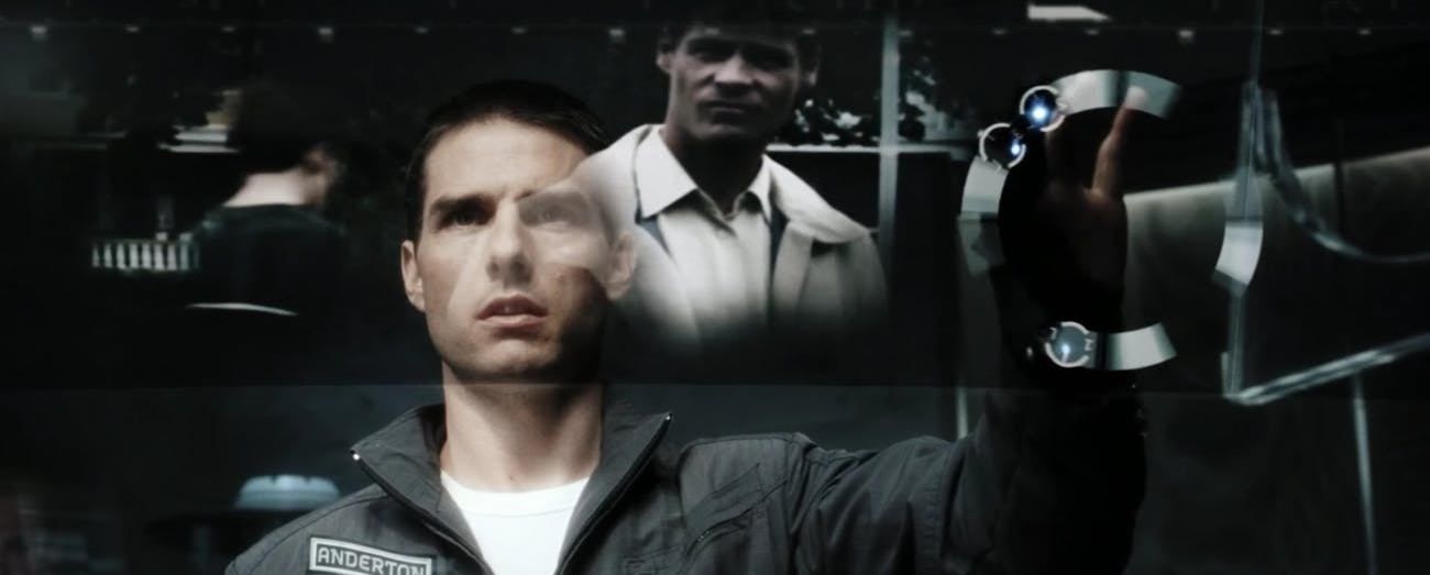 "Tom Cruise in ""Minority Report."""