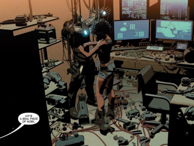 A.I. Tony Stark Might Disappoint New Iron Man, Riri Williams