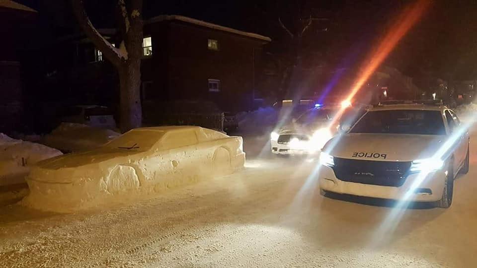 this genius delorean inspired snow car just got a parking ticket rh inverse com