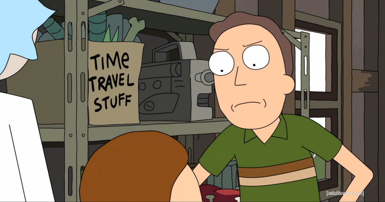 "Rick's had that ""Time Travel Stuff"" since the beginning of 'Rick and Morty'."