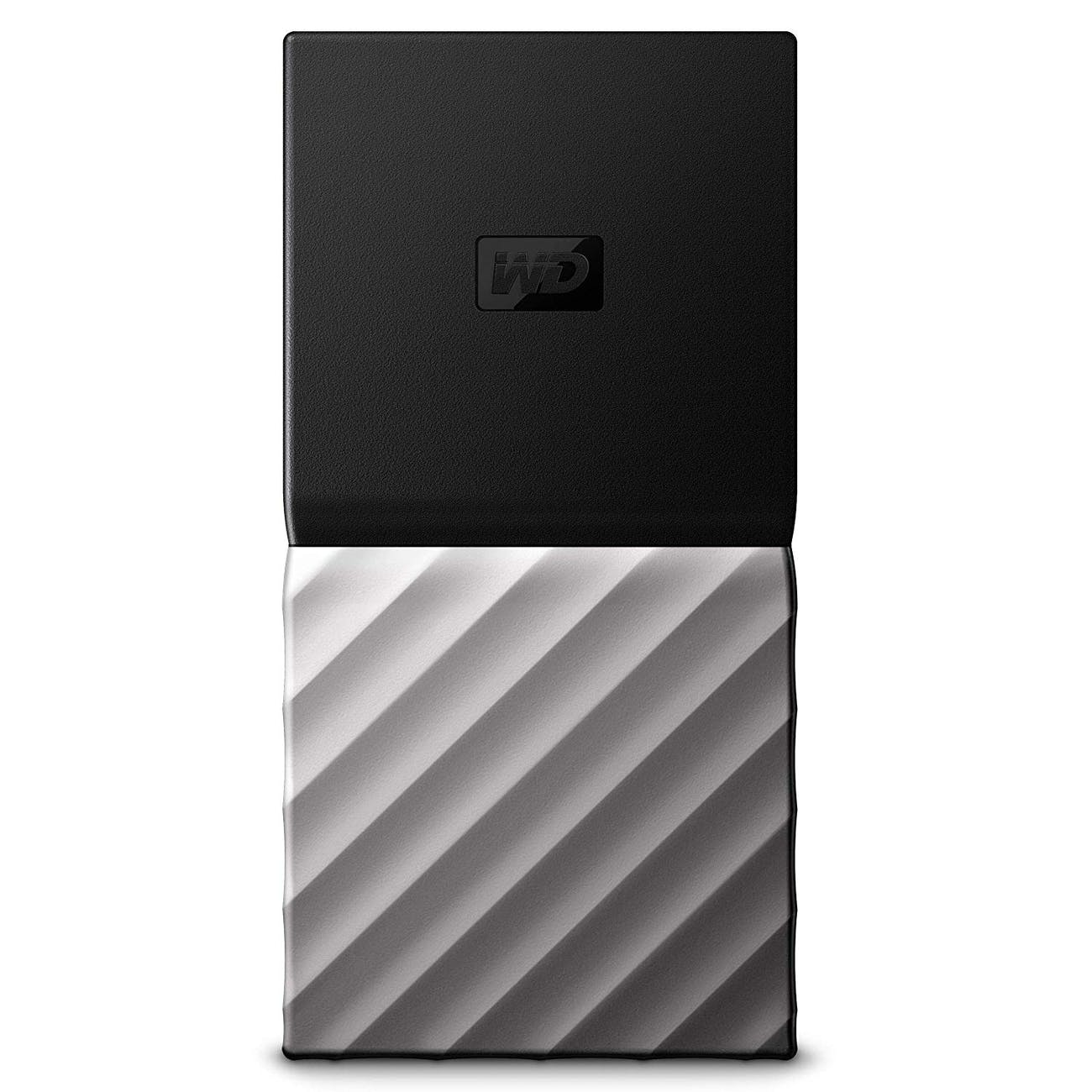 WD 2TB My Passport SSD Portable Storage - USB 3.1 - Black-Gray - WDBKVX0020PSL-WESN