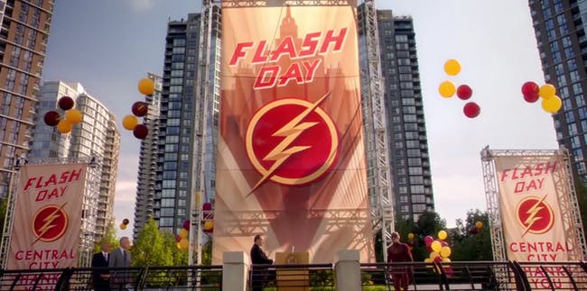 "Remember when Central City had a ""Flash Day""?"