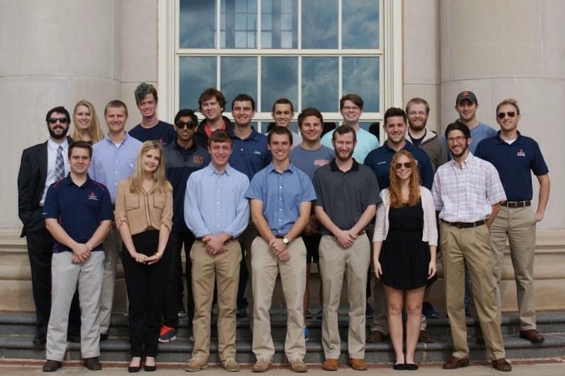 The Auburn University hyperloop team.