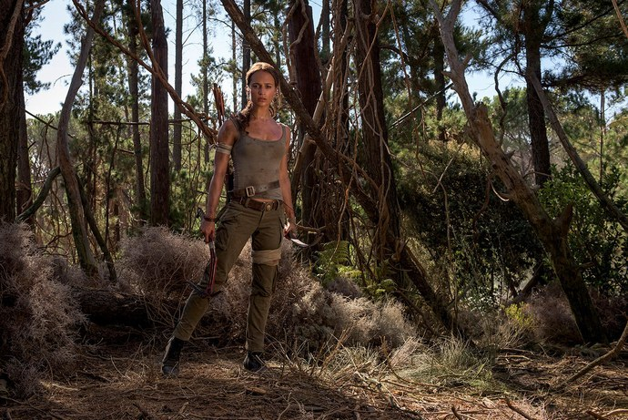 Lara in the forest.