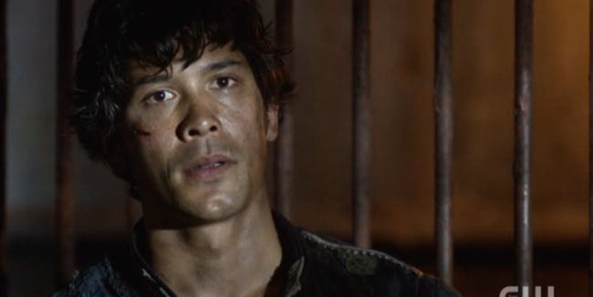 "Bellamy Blake in ""A Lie Guarded,"" Season 4 episode 4 of ""The 100"""