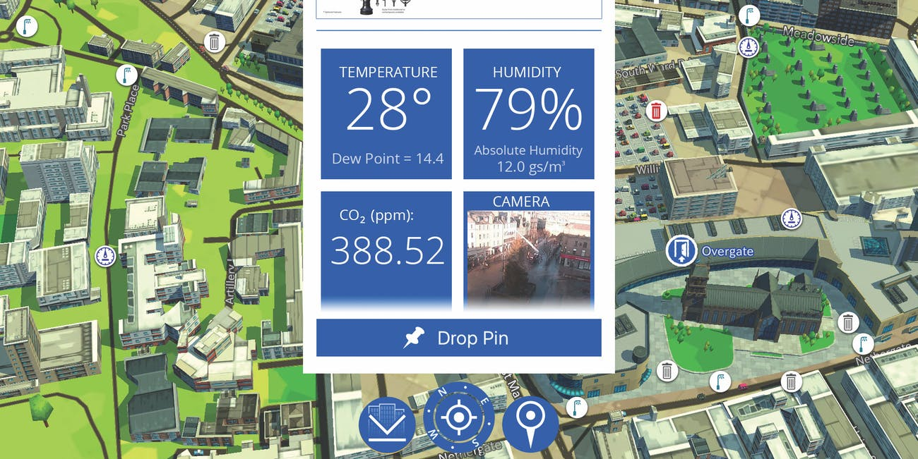 smart city data map 3D